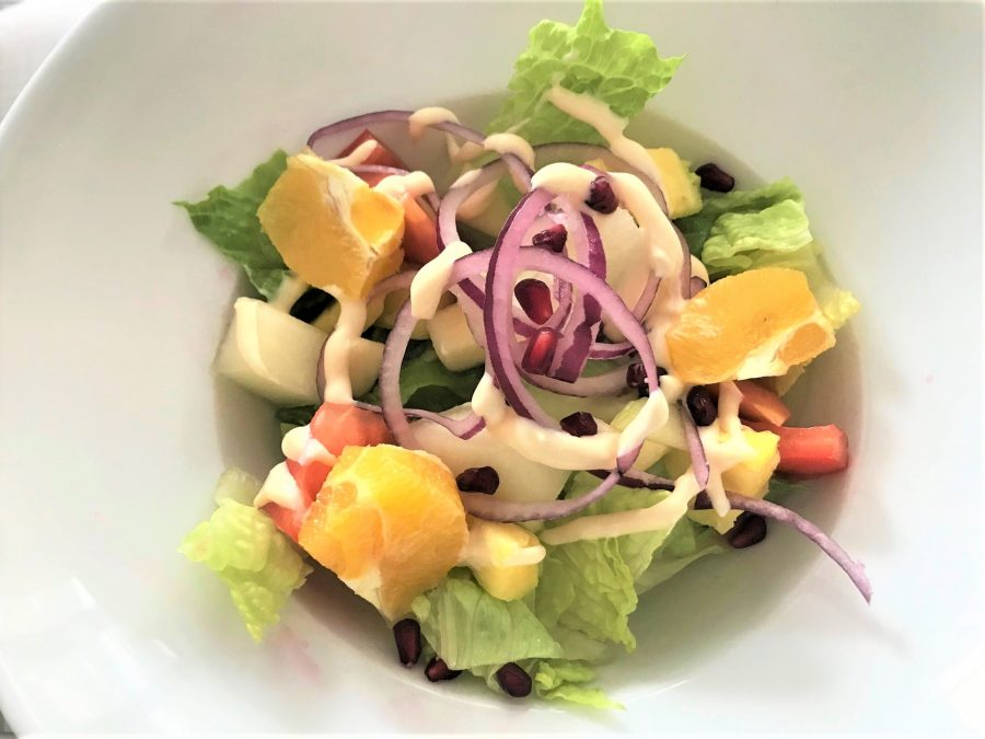 Ensalada tropical menu mediodia